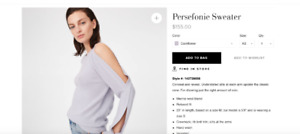 new collection club monaco sweater ( never worn)