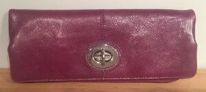 Danier Leather Plum Clutch