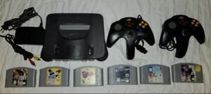 Nintendo 64 N64 Console System w/ 6 Games 2 Controllers