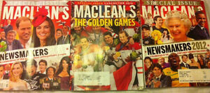 Macleans special edition vancouver 2010 , news makers 2011,2012