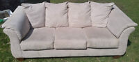 Beige couch for sale - mint condition