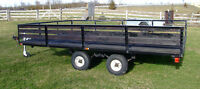 "12' x 7' 10"" UTILITY CAR LANDSCAPE YARD LAWNMOWER ATV  TRAILER"