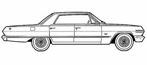 FRONT windshield from a 1963-1964 4 DOOR HARDTOP Chevy /Pontiac