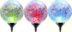 Moonrays 91251 Color Changing Solar Glass Ball Fixture, 3-Pack