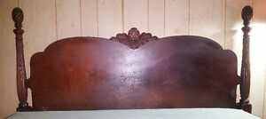 Rare Antique Four Poster Pineapple Bed