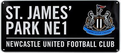 NEWCASTLE UTD St James Park Cartello stradale metallo (nero) (BB)