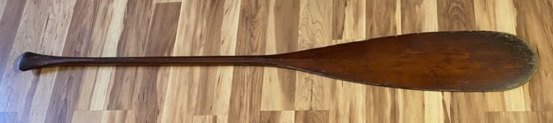 """Vintage Wooden OLD TOWN Oar Paddle 60"""" Long Nice Wood Patina"""