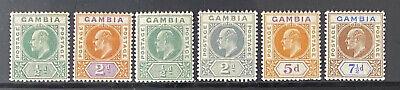 GAMBIA  Beautiful  Mint Light Hinged EDWARD VII Group