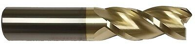 12 3 Flute 37 Helix Carbide End Mill For Aluminum - .030 Radius - Zrn Coated