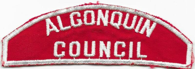 Algonquin Council RWS Red and White Strip Boy Scout of America BSA