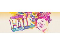 Hair the Musical tickets x 4 at the Vaults Theatre, London on 14/10/2017