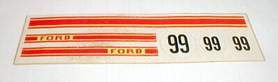 Ford #99 Race Car Model Car or Slot Car Stickers 1/24 Vintage NOS  for sale  Indianola