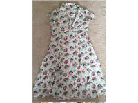 Cath kidston original floral tea dress size 16
