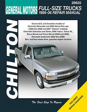 Chilton Repair Manual Chevrolet Full-size Trucks, 1999-07  #28625
