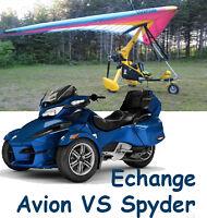 Avion ULM Pendulaire Echange VS Spyder RT BRP