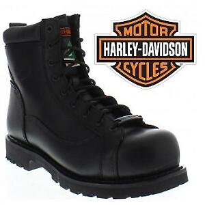 NEW HARLEY DAVIDSON BOOT MEN'S 7.5W D10478 207011479 GREGARIOUS CSA SAFETY BLACK SHOES
