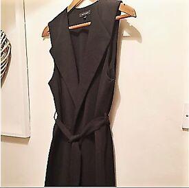 NEW LOOK black long waistcoat
