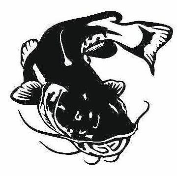 Car window decal truck outdoor sticker awesome catfish Flathead fishing fish