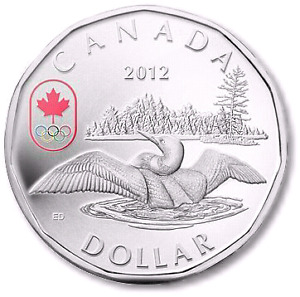 "2012 ""LUCKY LOONIE"" SILVER DOLLAR COIN - MINT CONDITION!!!"