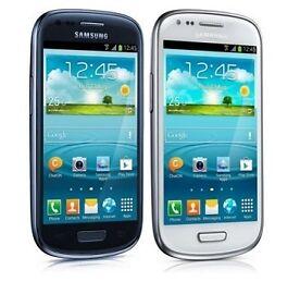 Samsung Galaxy S3 III Mini GT-I8190/I8200 3G weiß & blau