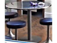 "Pedestal table 36"" (92.5 cm) diameter"