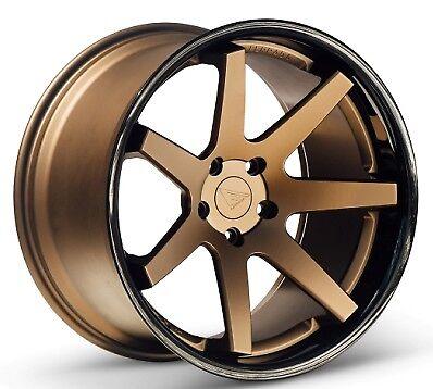 20x9/10.5 Ferrada Fr1 5x115 +15 Matte Bronze Wheels Fits Charger Se-sxt Rt Rwd