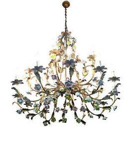 Porcelain chandelier ebay vintage porcelain chandelier aloadofball Image collections