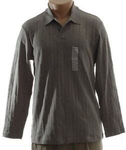 NEW - Alfani Fine Knit Grey Polo Top - XL