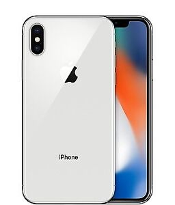 iPhone X 256GB Silver Unlocked w/ Apple Care