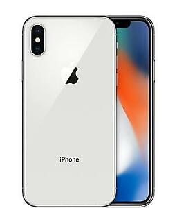 Iphone X 64 gigs Sealed box 1 Year apple warrant White color unlocked with free case and glass protector