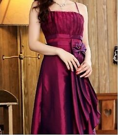 Maroon Satin Party wear gown