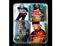 MALE CELEBRITY BIOGRAPHIES - (4) - HARDCOVER - FOR SALE