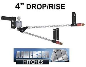"NEW ANDERSON NO-SWAY HITCH No-Sway Weight Distribution Hitch with 4"" drop/rise - CAR AUTO RV TRAILER CAMPER  79849404"