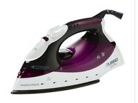 Morphy Turbo Steam Iron in Black and Plum