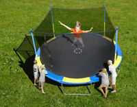 NEUF!!! TRAMPOLINE 14 PIEDS ET FILET : DIMANCHE 26 AVRIL 9H-14H