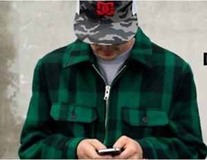 Schott NYC & DC Shoes Mens Curbside Flannel Jacket (BNWT)