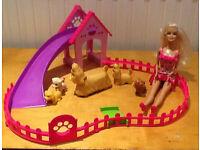 barbie doll dog play area