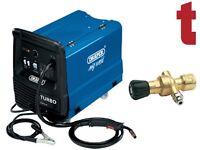 Draper 180A MIG Welder Gas/Gasless + 130 Bar Gas Bottle Regulator