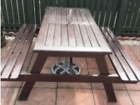 Wooden bench hardwood