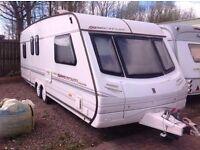 2000 Abbey Spectrum 520/5 touring caravan, 5-6 berth, twin axle