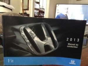 Honda Fit 2013 owner's manual