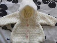 Brand new aran hooded jacket