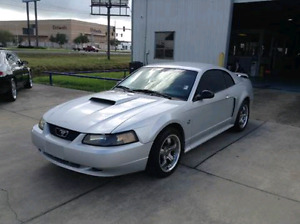 2003 Silver Ford Mustang Convertible