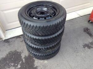 175 65 R14 Hankook 4 winter tires with rims London Ontario image 3