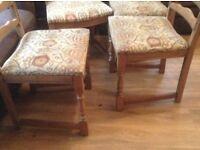 4 Vintage oak chairs