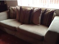 2x SCS sofas with 2x matching foot stools
