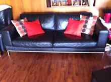 Black leather couch for sale Fulham West Torrens Area Preview