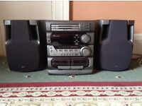 JVC compact stereo 3 disc play - great sounds - £55 ono