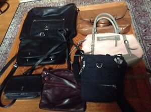 Many leather purses for sale