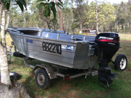 Alcan 12ft with 15hp 4stoke all in good order on good trailer